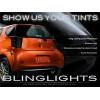 Scion iQ Smoke Tinted Tail Lights Overlay Kit Film Protection