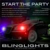 Chrysler 300 300c Strobes Police Light Kit for Head Lights Strobe Lights