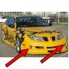 2003 2004 2005 Pontiac Sunfire Razzi Body Kit Fog Lights Bumper Driving Lights