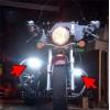 Kawasaki Vulcan 500 VN500 Xenon Driving Lights Fog Lights Driving Lights Fog Li