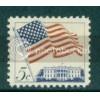 1208 5c U.S. Flag Fine MNH Plt/4 UL 27392 Plt03043
