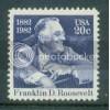 1950 20c Roosevelt Fine MNH Plt/4 LL 2 Plt06821