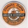MI Big Rapids Milk Bottle Cap Name/Subject: Emmons Dairy Golden Guernsey M~73