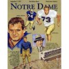 1971 NOTRE DAME INDIANA GAME BOOK PHOTOS PLAYERS EX