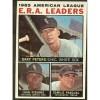1964 Topps Baseball Card #2 American League E R A Leaders