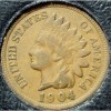 1904 Indian Head Cent F12  FULL LIBERTY #241