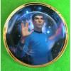 Mr Spock 25th Anniversary Gold rimmed Star Trek Plate