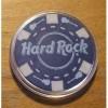 Hard Rock Casino Poker Chip Card Guard Cover - Blue