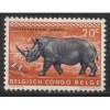 1959  BELGIAN CONGO   20 c.  White Rhinoceros  mint*, Scott # 307