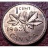1963 CANADA SMALL CENT IN AU CONDITION