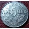 1930 CANADA 5 CENTS IN FINE-VF CONDITION