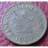 1949-J GERMANY 10 PFENNIG IN VF-EF CONDITION