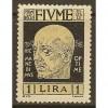 1920 Fiume 1 Lire Gabriele d'Annunzio issue mint*, Scott 95
