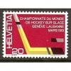 1961  SWITZERLAND   20 c.  Ice Hocky Stick & Puck  mint*, Scott # 404