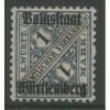 1919 German States  WURTTEMBERG  1 M. official  mint*,  Scott # O162