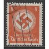 1934 GERMANY  8 Pfennig  official issue  used, Scott # O84