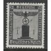 1938 GERMANY  1 Pfennig  Franchise issue  used, Scott # S1