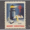 USED 1941 CHRISTMAS SEAL (SCOTT #WX104)