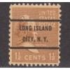USED SCOTT #805 WITH LONG ISLAND CITY, N. Y. PRECANCEL