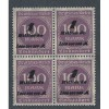 GERMANY MINT NH BLOCK OF 4 INFLATION ISSUE OVERPRINT  M1818