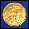 HIS MAJESTY'S GARDEN AUTHENTIC NEW ORLEANS MARDI GRAS DOUBLOON GIRL FLOWERS