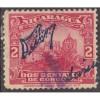 USED NICARAGUA #410 (1922) CONTROL SIGNATURE