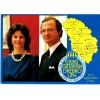 SWEDEN - FDC card Queen Sylvia & king