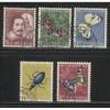 1956  SWITZERLAND  Pro Juventute semi postal set used, Scott # B257-B261