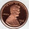 1996s Gem Proof RED UDC Lincoln Cent