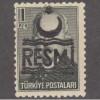 UNUSED/NH TURKEY #O39 (1957)