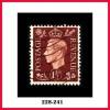 Great Britain, #237, 1½p Red Brown Used, Inverted Watermark, George VI