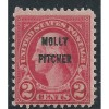 US # 646 M HINGED (MOLLY PITCHER- OVERPRINT  G177