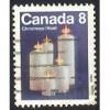 Canada 607p Christmas 1972 Candles Winnipeg Tagging CV = 0.25$