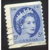 Canada 348 Elizabeth II Wilding 5c Coil CV = 0.20$