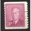 Canada 299 George VI 3c Rose Violet Coil CV = 0.20$