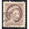 Canada 337 Elizabeth II Wilding 1c Brown CV = 0.20$