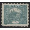1919 Czechoslovakia  5 h.  Hradcany at Prague  mint*, Scott # 42