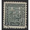 1929 Czechoslovakia  25 h.  Coat of Arms  used, Scott # 155