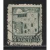 1943 SPAIN  5 c. postal tax stamp Barcelona  used, Michel # 48