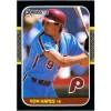 Von Hayes 1987 Donruss Baseball Card Philadelphia Phillies