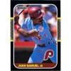 Juan Samuel - Philadelphia Phillies 1987 Donruss Baseball Card