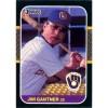 Jim Gantner - Milwaukee Brewers 1987 Donruss Baseball Card