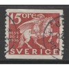1936 SWEDEN   15 o. Mounted Courier  used, Scott # 253