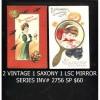 2  VINTAGE  HALLOWEEN POSTCARDS 1 1909 SAXONY 1 LSC MIRROR INV 2756 WS PG30