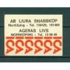 """Sweden. Matchbox Label. Advertising """"Ageras Livs"""" Norrkoping."""