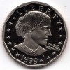 1999p Gem Proof DC Susan B Anthony Dollar