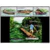 Malaysia 2016 S#1600-1603 River Transportation in Sarawak set+M/S MNH boat fauna