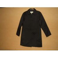 Eddie Bauer Jacket Basic Coat Polyester Polyfil Female Adult M Black Solid