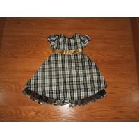 Kidture Dress 99% Polyester 1% Lurex Female Kids 4T Multi-Color Plaids & Checks