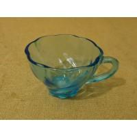 Designer Vintage Decorative Tea Cup 3 1/2in Diameter x 2 1/4in H Blues Mid Centu